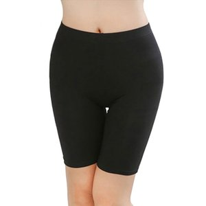 Wholesale High Street Women Short Leggings Skin Tight Pants Knee length Solid Under Skirts Comfortable Lightweight Bamboo Fiber Home Leisure Wear