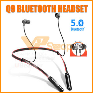 Wholesale Q9 Bluetooth Headset Activeflex Wireless Neckband Earphone Sport Running Stereo Headphone Smartphone Earphones for iPhone Samsung