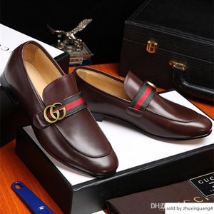 19ss Handmade Genuine Leather Driving Lace-up Wear Comfortable Dress Wedding Shoes Prom Men S Loafers
