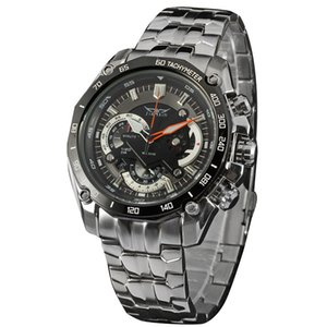New multi-function large dial men's business watch world time through the bottom imported movement casual watch on Sale