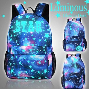 3 Type Luminous Student School Bag Laptop Backpack for Boy Girl Daypack Glow In The Dark Cartoon Backpack for Camping Travel