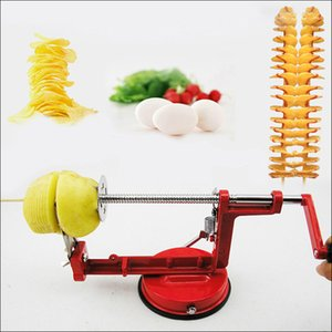 Wholesale stainless steel vegetable spiral slicer resale online - Vegetable Tools Cooking Tools Stainless Steel Spiral Potato Slicer Manual Twisted Potato Cuttting Machine For Batata