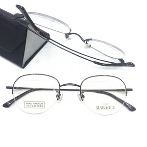 Wholesale 100 Pure Titanium Eyeglass Frames Half Rimless Myopia Rx able Brand New Top Quality Glasses