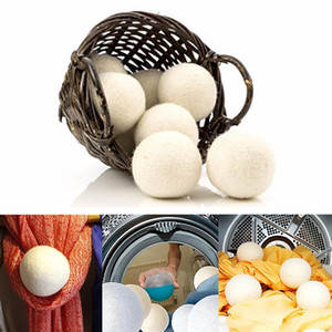 Wholesale 7cm Wool Dryer Balls Natural Fabric Softener Organic Reusable Ball Laundry Dryer Balls For Static Reduces Drying Time MMA1585
