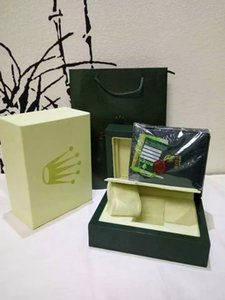 2020 NEW luxury top watch Green Original Box High quality gift watch box With certificate bag Card Papers 0.8KG For Rolex Watch Box