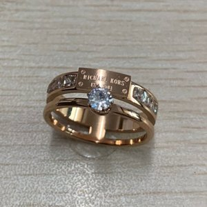 Wholesale New deluxe fashion Brand Design rose gold diamond love rings Jewelry for Women men Wedding engagement Gift factory