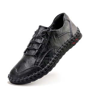 Male Trend England Leisure Leather Single Shoe Men Casual Shoes Comfortable And Breathable on Sale