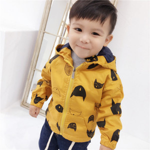 New fshionboy windbreaker jackets warmer top 2019 child baby tide children clothing outwear coat infant toddler clothing kids clothes 1-7 ys on Sale