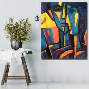Home Office Decor Canvas Wall Art Face Figure Abstract Oil Painting Wall Pictures for Living Room Pop Art on Sale