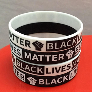 Black Lives Matter Silicone Wristband For Men Women Band Bracelets I Can't Breathe Adults Wrist Band American HHA1384