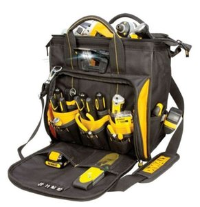 Wholesale DeWalt DGL573 - 41 Pocket LED Lighted Pro Technician's Tool Bag Box Carrier New
