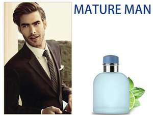 Wholesale Mature Man perfume cologne elegant Light Blue male perfume lasting fragrance Blue Glass Bottle Eau De Parfum ML fast delivery free ship