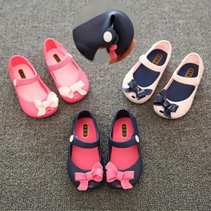 Wholesale Pudcoco New Infants Newborns Baby Girls Kids Sandals Soft Sole Non Slip Plastic BowKnot Crib ShoesPrint Summer Buckle Shoes Kid