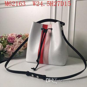 Wholesale Designer leather Drawstring women classic waves block colors bucket bags cm wide two quality to choose