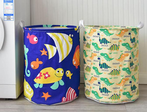 Wholesale Dinosaur Laundry Hamper Home Storage Bin Baskets Ocean Animal Foldable Laundry Basket for Organizing Kids Toy Bin Closet  Shelf Baskets