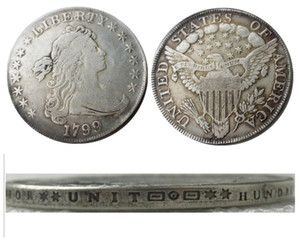 US 1799 Draped Bust Dollar Heraldic Eagle Silver Plated Copy Coins metal craft dies manufacturing factory Price