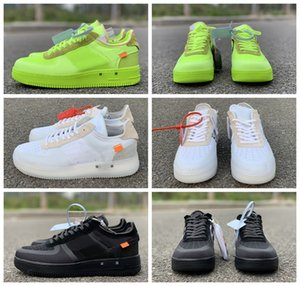 Wholesale 2019 New X Mens Forcesone Volt off Green Running Shoes Black Warrior Sport Casual White Skateboard Shoe Women Forced Designer Sneakers
