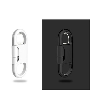 Wholesale Bottle Opener Keychain Data Cable Portable 3in1 USB Charging Cord for Smart Phone