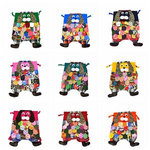 Wholesale Characteristic Backpack Chinese Ethnic Character Handmade Cotton Dog Backpacks Kids Girls Fashion School Dog Bags Animal Bags GGA2365