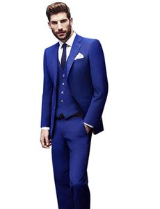 Wholesale Men s Piece Two Buttons Suit Wedding Prom Jacket Vest Trousers Party Event Slim Fit Suit for Wedding Bussiness