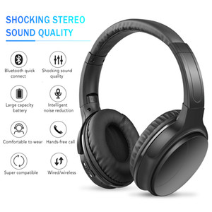 Wholesale Noise Cancelling Headphones Wireless Bluetooth Over the Ear Headphones with Mic Passive Noise Cancellation HiFi Stereo Headset T191021