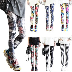 Wholesale Leggings Fashion Sexy Casual Highly Elastic And Colorful Leg Warmer Fit Print Sporting Workout Athletic Leggins Pants Trousers