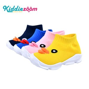 Wholesale Kiddiezoon Newborn Baby Boy Girl Flying Woven Mesh Duck Cartoon First Walker Breathable Soft Soled Kids Shoes For t t J190517