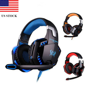 Wholesale game headsets resale online - PS4 Gaming Headphones With Microphone Dazzle Lights Glow Game Music Headset C0205 US STOCK FAST SHIPPING