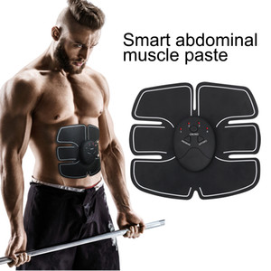 Fast Ship Muscle Stimulator EMS Slimming Machine 8 Belly Pastes Wireless Stimulation Weight Loss Train Gear Toning Beauty Fitness Equipment on Sale