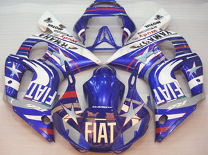 Wholesale 3gifts New ABS Fairing Kits Fit For YAMAHA YZF-R6 98-99-00-01-02 fairings YZF600 1998 1999 2000 2001 2002 bodywork set custom FIAT