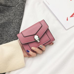 top quality women man luxury pu leather multicolor date code short wallet Card holder classic Short Wallet Card Holders