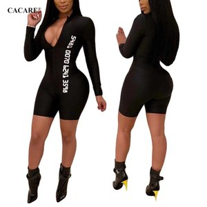 Wholesale 2019 Bodysuit Black Bodycon Jumpsuit Sexy Bodies Ladies Body Long Sleeve Summer Jumpsuit F0309 Deep V Neck Brief Style