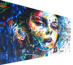 Wholesale painting girl figure resale online - Graffiti Girl Painting Street Art Massive large urban Home Decor Handpainted HD Print Oil painting On Canvas Wall Art Canvas