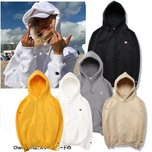 New long sleeved embroidery 5colors Champ big C brand lady polos padded hood Sweatshirts Cute Boyfriend Style Harajuku thin sweater Hoodies