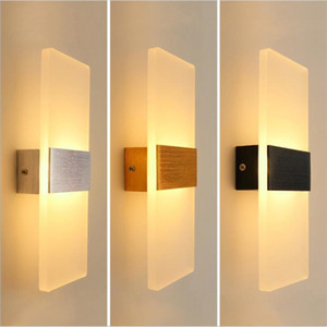 nuevas lámparas de pared de luz para el dormitorio. al por mayor-New Modern W W de aluminio de pared luces de la cocina del restaurante Recámara baño interior luminarias LED lámpara de pared Lámparas
