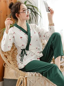 Wholesale 2019 new crane cotton kimono robe womens pajamas sets japanese sleep indoor bathrobes yukata robes for women