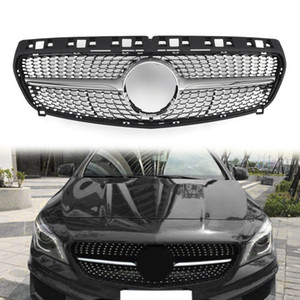 Areyourshop Front Diamond Star Grille Grill For Benz R117 W117 CLA CLA250 2013-2015 Silver Fornt Upper Grille Car Accessories