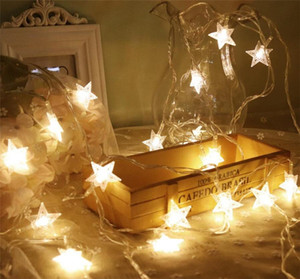 Wholesale LED String Lights Fairy Light LED Star Fairy Lights Star Shaped LEDs Twinkle Lights Battery Operated