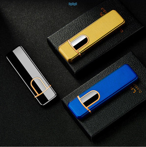 usb rechargeable Cigarette Lighter double side heater coil slim cigar lighter electrical touch control ignition touch sensitive control