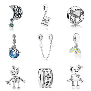 Wholesale New Original Sliver Plated Bead Holiday Travel Christmas Charm Fit Pandora Bracelet Necklace Diy Women Jewelry