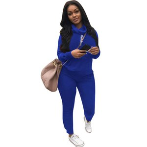 Wholesale C Brand Designer Women Sweatsuit Heaps Collar Piece Set Hoodie Leggings Tracksuit Sweat Shirt Tights Sportswear Pullover Pants Outfits