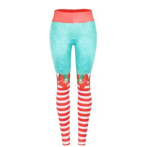 Hot sale Christmas printed slim Yoga Pants Leggings om8791 material: milk silk it have 3 colours