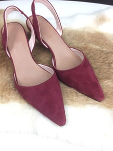 Wholesale summer spain for sale - Group buy Hot Sale The new summer fashion brand Spain leisure minimalist style egg heel ladies high heels