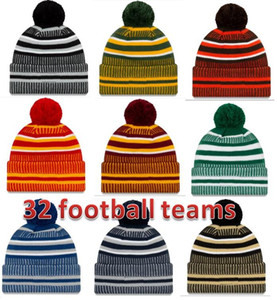 Wholesale 2019 New Arrival Sideline Beanies Hats American Football teams Sports winter side line knit caps Beanie Knitted Hats drop shippping nb001