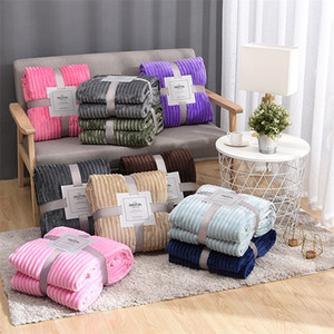Wholesale fleece blankets for sale - Group buy Flannel Blanket Soft Warm Coral Fleece Blanket Winter Sheet Bedspread Sofa Plaid Throw Gsm Light Thick Mechanical Wash Blanket