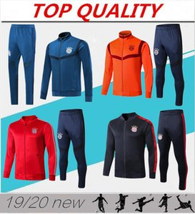 Wholesale 2019 2020 Bayern Munich soccer jacket tracksuit 19 20 Survetement LEWANDOWSKI MULLER ROBBEN full zipper jacket Training suit