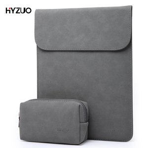 HYZUO Laptop Bag Sleeve for MacBook Pro Air 2017 2018 13 13.3 15 Inch Soft Leather Notebook Case with Small Bag for Men Women