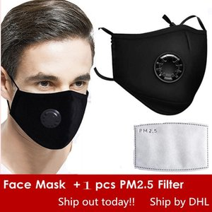 Wholesale 24 Hours Ship Fast Free DHL PM2 N95 Mouth Masks Anti Dust Smoke Germs Gas Face Mask Reusable KN95 respirator mask with a Filter FFP2