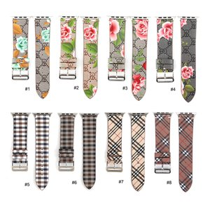 Leather Loop for iwatch 4 3 2 1 Strap for Apple Watch Band 38mm 42mm 40mm 44mm Flower Design