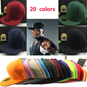 Wholesale 20 colors good quality solid plain Blank Snapback Solid Hats Baseball Caps Football Caps Adjustable basketball Cheap price cap dc209